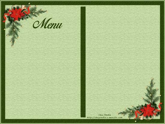Carte menu noel perenoel2