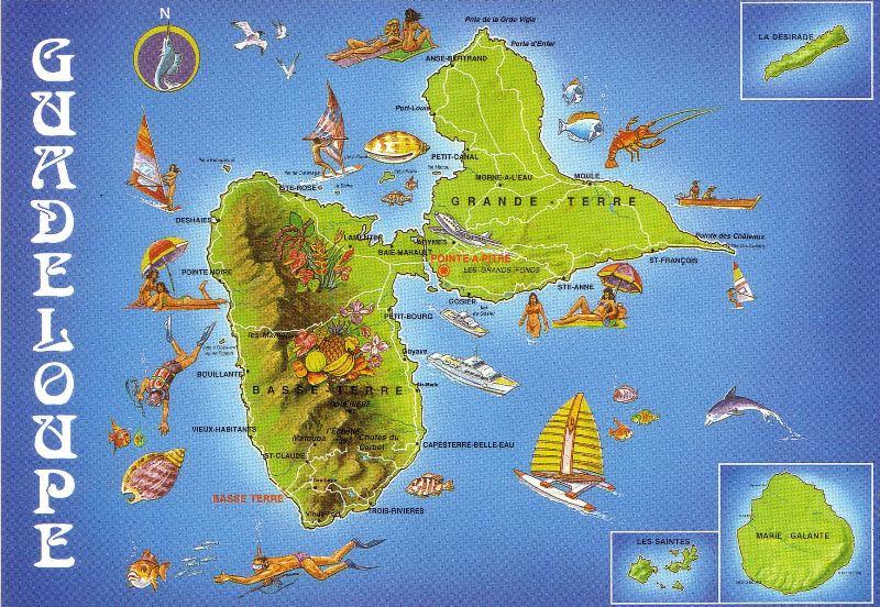 Carte De La Guadeloupe à Imprimer | imvt