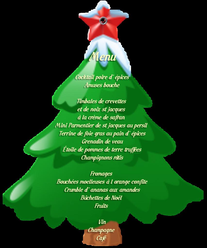 Decoration Pour Menu De Noel.Menu De Noel Original